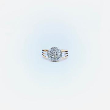 REAL DIAMOND FANCY BRANDED RING by