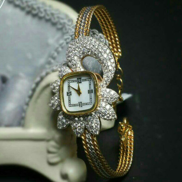 Cz Gold Fancy Ladies Watch 916