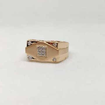 18k men's rose gold rings NO-31306