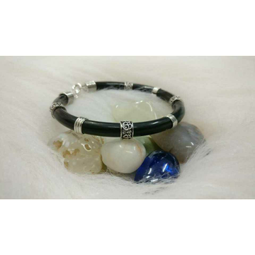 Plain Round(Goal) Adjustable Black Coclor Bracelet... by