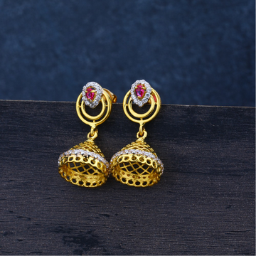 ladies 916 Gold Earring -LJE71