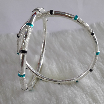 New fancy silver bangles by