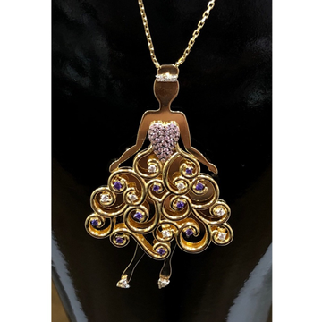18K angel charm pendant chain