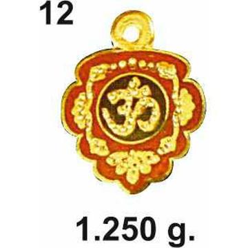 916 Gold Om Pendant DC-P12