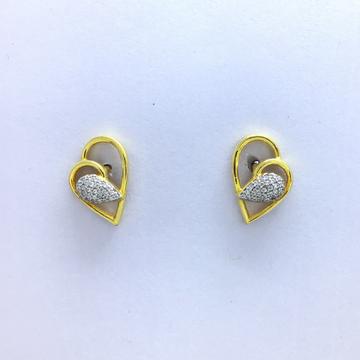 designing heart fancy gold earrings by
