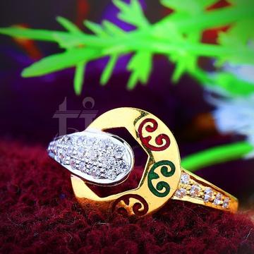 916 Gold Colorful Meenakari Ring TJ-R09