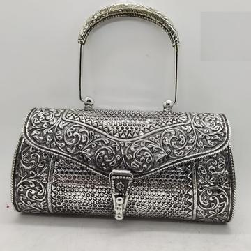 Puran hallmarked silver shoulder bag in snake skin...