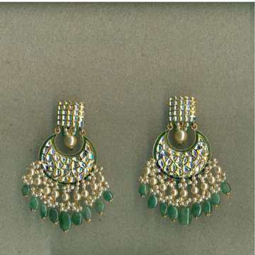 916 gold Meenakari Earrings