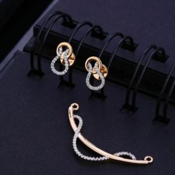 18 carat  rose gold antique ladies pendants set RH-PS453