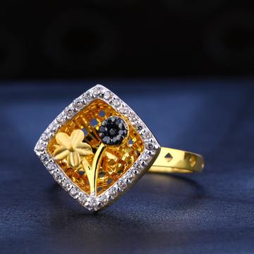 22KT Gold Cz Diamond Classic Women's  Ring LR551