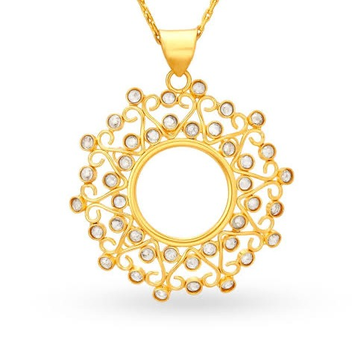 22kt, 916 Hm, Yellow Gold elegant spheric design pendant Jkp172.