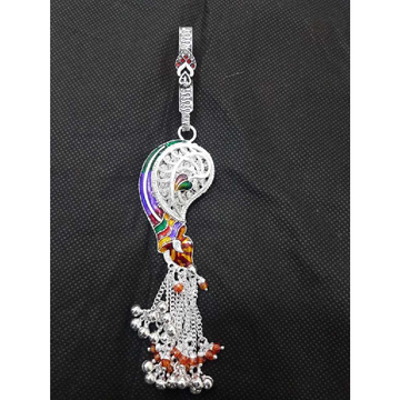 Silver Attractive Meenakari Juda by MSK Jewel Art Private Limited