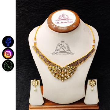 22 carat gold fancy necklace set RH-LS518