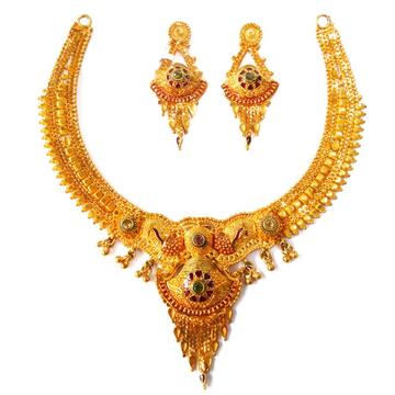 1 gram gold forming necklace set mga - gfn002