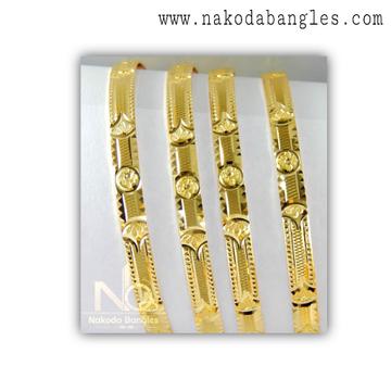 916 Gold Khilla Bangles NB - 1377