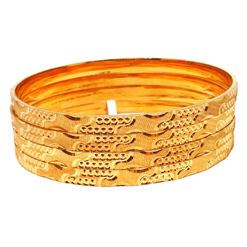 One gram gold forming 4 piece plain bangles mga - bge0335