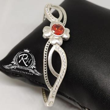 silver antic red stone ladies kada Rh-Lb930