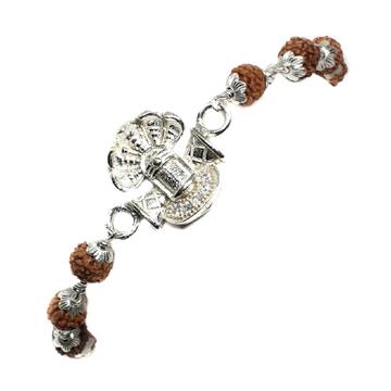 925 Sterling Silver Rudraksh Bracelet MGA - BRS0361