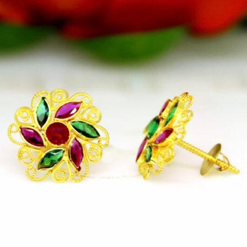 916 gold rajesthani earring by
