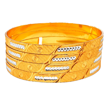One gram gold plated fancy bangles mga - bge0395