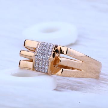 750 Rose Gold Fancy Hallmark Men's  Ring RMR53