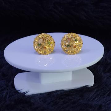 22KT/916 Yellow Gold Talas Earrings For Women