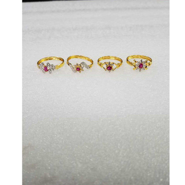 916 Gold Fancy Pink Stone CZ Ladies Ring