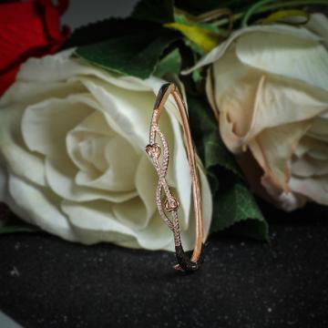 92.5 Sterling Silver Heart Shape Cz Rose Tone Brecelet for Women