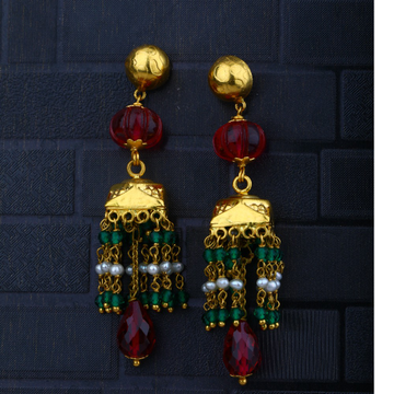 22KT Gold Kundan Design Earring