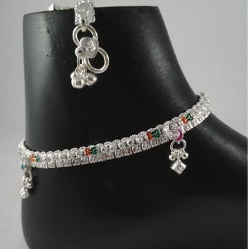 Silver Fancy Payal. NJ-P0411