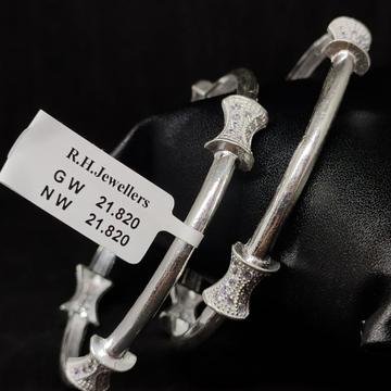 silver antique ladies bangles RH-LB913