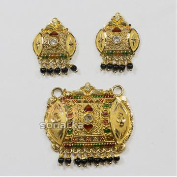 Kalkutti 22kt Gold Pendant Set Earring
