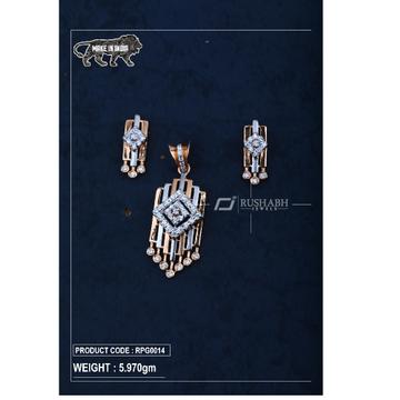 18 Carat Rose gold pendant set rpg0014 by