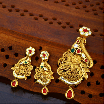 916 gold hallmark antique pendant set