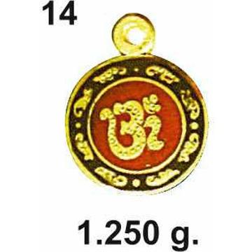 916 Gold Round Om Pendant Design DC-P014