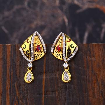 Ladies 22K Gold Designer Fancy Earring -LFE280