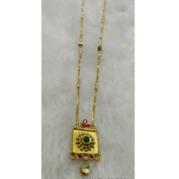 Gold chain Pandal White Or Green Stone by
