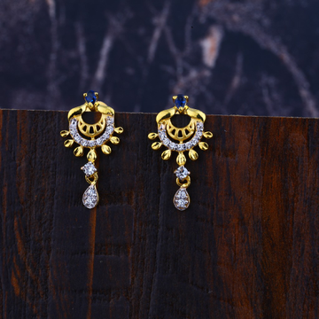 22KT Cz Gold Classic  Earring LFE303