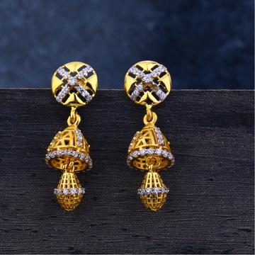 Ladies 22k Gold Jummar Earrings -LJE116