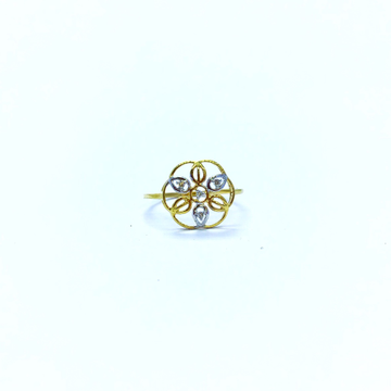 REAL DIAMOND FANCY FLOWER RING by