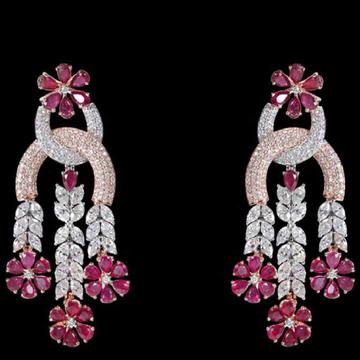 Diamonds and Ruby EarringsJSJ0129