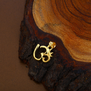 Hollow Gold Om Pendant-HLP99