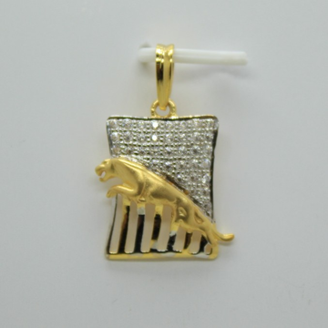 Fancy cz gold gents Pendant by Shree Sumangal Jewellers