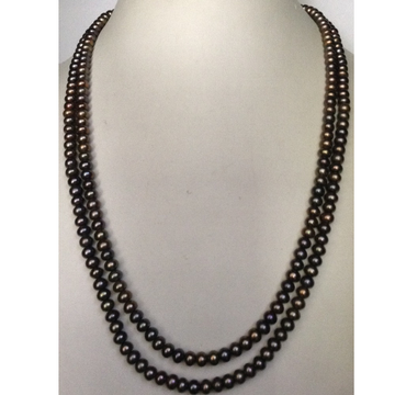 Freshwater Brown Flat Pearls Necklace 2 Layers