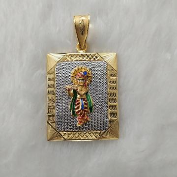 krishna casting gold pendant