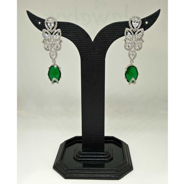 1 gram green stone party wear designed earring