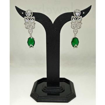 1 gram green stone party wear designed earring by