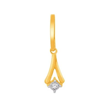 18k gold real diamond fancy pendant mga - rp0038