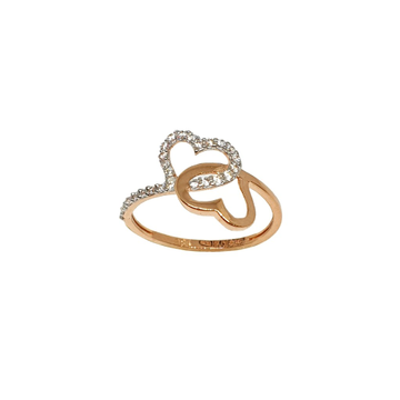 18K Rose Gold Heart Shaped Fancy Ring MGA - LRG1110
