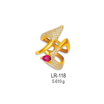 22KT-CZ-Gold-Fancy-Ladies-Ring-LR-118
